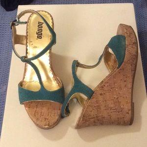 Cork wedge platform sandal